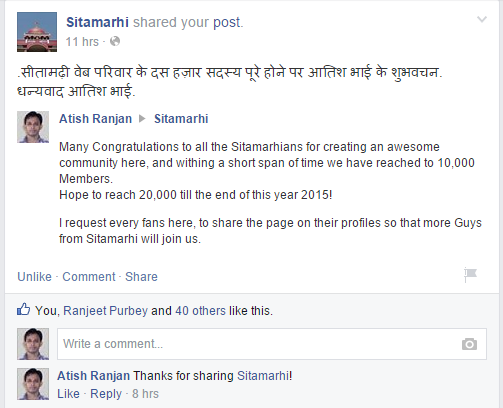 congratulating for reaching 10,000 likes!