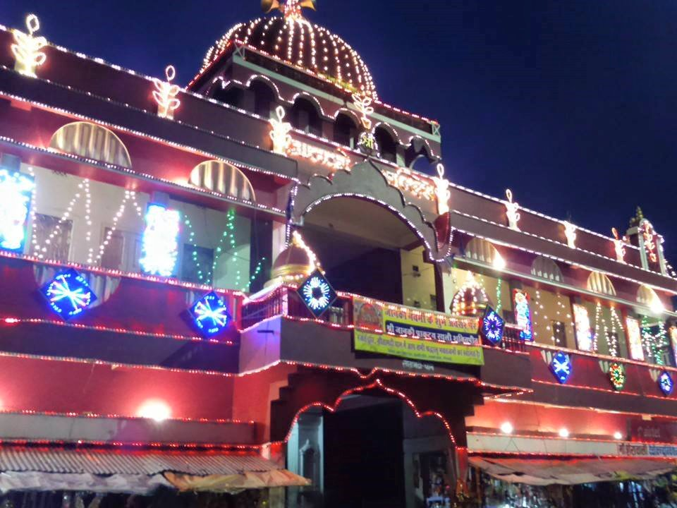 Janki mandir at night